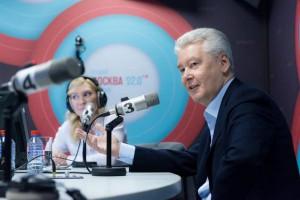 Сергей Собянин посетил одну из столичных радиостанций