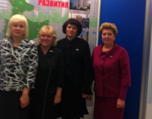 Глава МО  Нагорный Наталья Медведева (вторая справа) присутствовала на встрече с мэром Москвы Сергеем Собяниным
