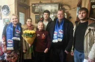 Ветерана Великой Отечественной войны поздравили с юбилеем в Нагорном районе