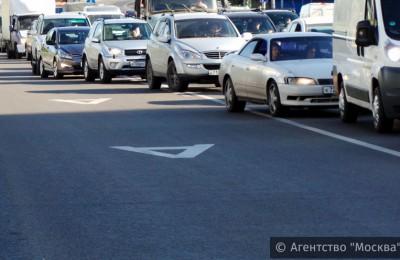 Выделенная полоса на Липецкой улице в ЮАО