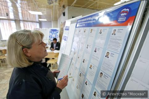 Москвичи выбирают претендентов «Единой России» активнее, чем напраймериз вМосгордуму