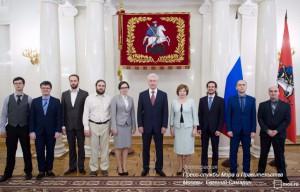 Сергей Кубышев (второй слева) встретился с мэром Москвы Сергеем Собяниным