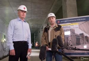 Собянин осмотрел строящуюся станцию на западе Москвы