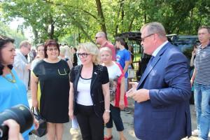 Префект ЮАО Алексей Челышев и депутат Госдумы Елена Панина
