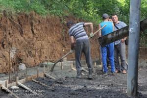 Работы по благоустройству на Криворожской улице