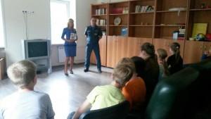 Сотрудники МЧС встретились с детьми Нагорного района