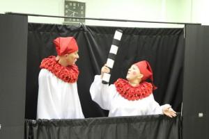 Актеры проекта «Театрядом» представили три забавные истории о Пульчинелле, хитром Буратино и веселом Каспеле