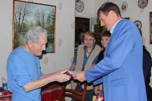 17 ноября глава управы Александр Красовский поздравил участника Великой Отечественной войны Василия Ивановича Ларичева