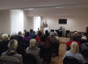 Жители района на лекции о здоровье