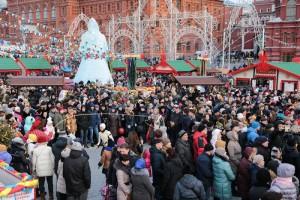 Празднование Масленицы в Москве