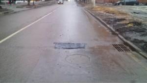 Восстановленный асфальт в Симферопольском проезде