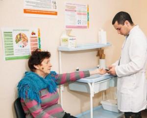 На лекции о профилактике инсульта в поликлинике №2