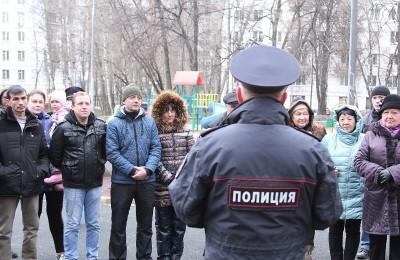 Встреча участкового полиции с жителями района