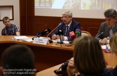 Сергей Левкин на пресс-конференции по вопросам реновации