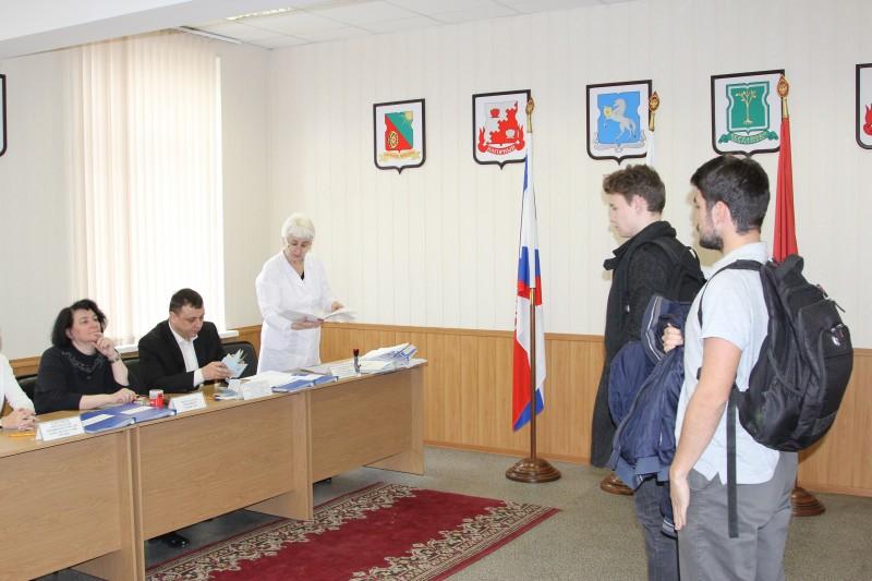 Заседание призывной комиссии