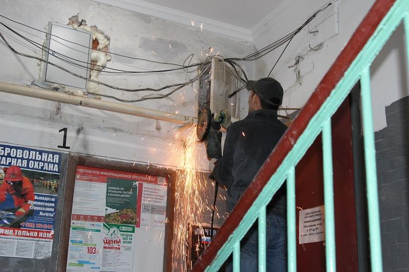 Капремонт в одном из домов в Нагорном районе