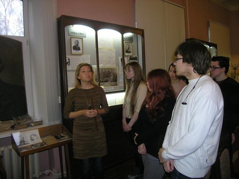Студенты в музее