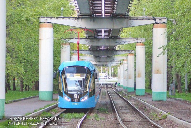 Трамваи в Нагорном районе